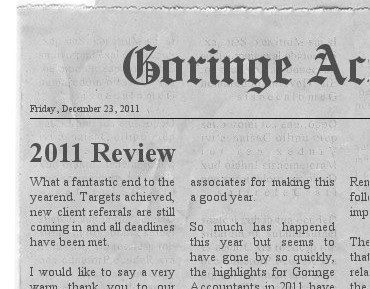 Goringe Accountant Times 2011 Review
